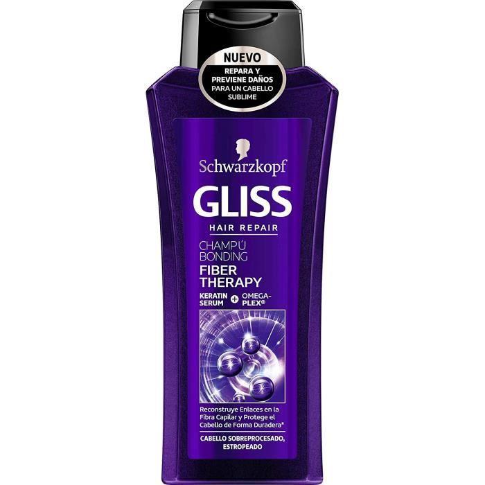 SHAMPOING Schwarzkopf Gliss Fibre Th&eacuterapeutique - Shampooing (Pour les cheveux sur-trait&eacutes au fer et - ou &agrave1717