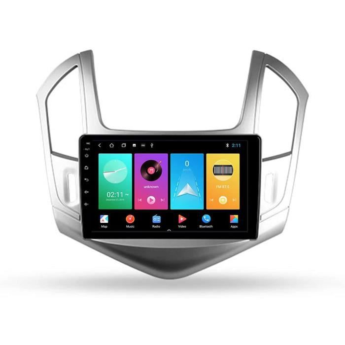 Autoradio Bluetooth Stéréo De Voiture Double Din 9'' 5G WiFi Voiture Info Plug and Play SWC Support Carautoplay-GPS-Dab+-OBDII 373