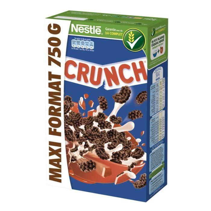 CRUNCH Céréale chocolat maxi - 750 g