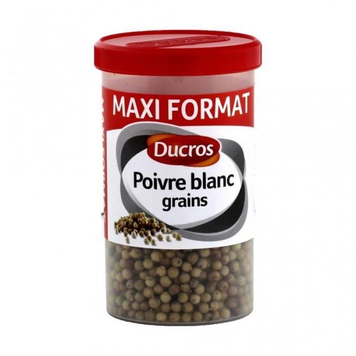 Ducros Poivre Blanc Grains Maxi Format 100g (lot de 3)