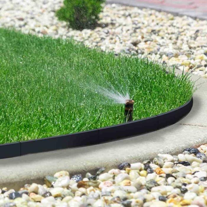 Bordure de jardin flexible Noir 54.7 cm 54,7 cm