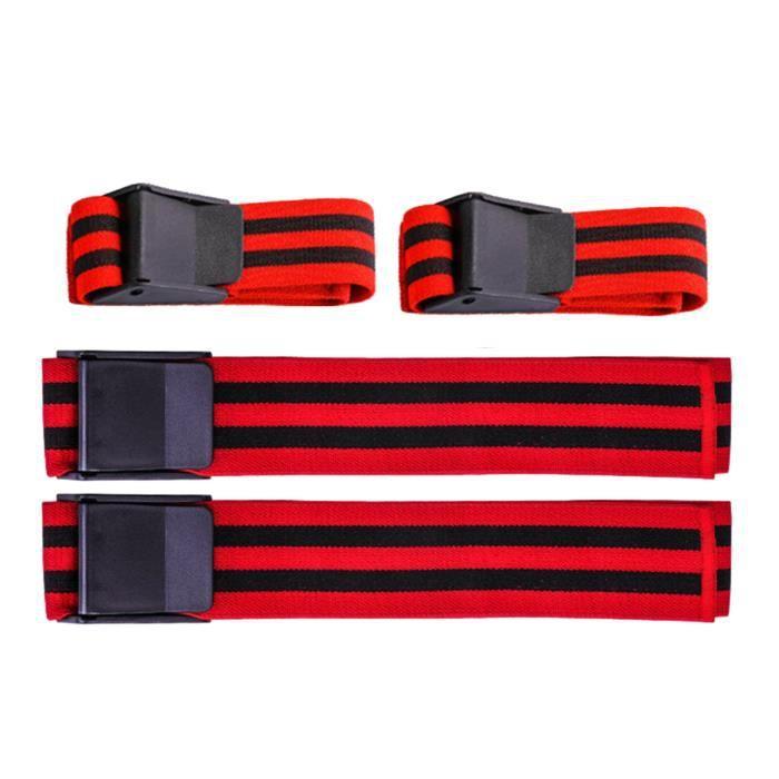 Bandes d'occlusion de restriction du flux sanguin Bandes d'entraînement de fitness pour l'entraînement de Bras et cuisse rouges