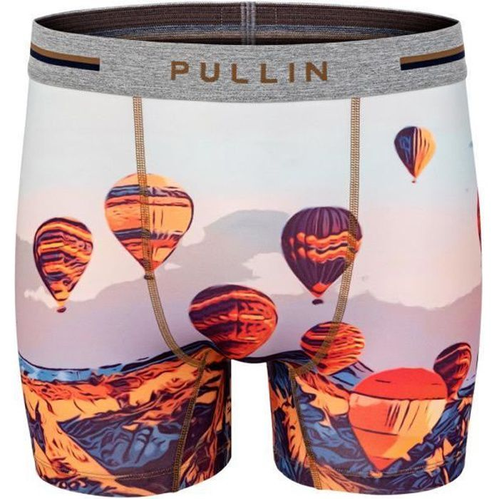 PULL IN Boxer Long Homme Microfibre BALOON Multicolore