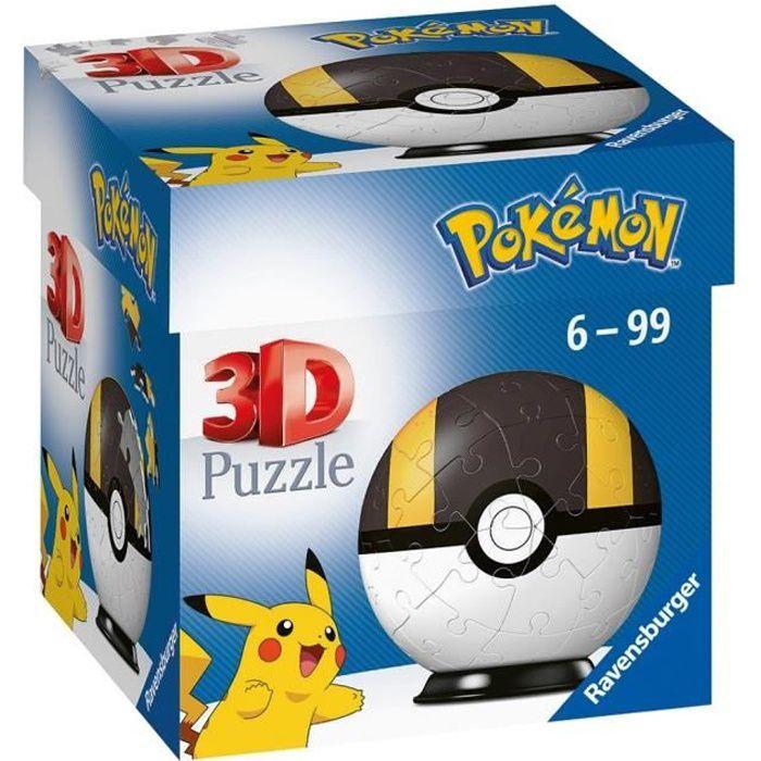 POKÉMON Puzzles 3D Ball 54 pièces - Hyper Ball - Ravensburger - Puzzle enfant 3D sans colle - Dès 6 ans