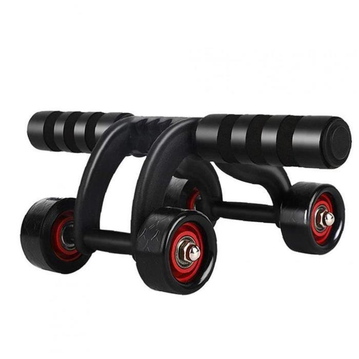 Rouleau Abdomal Rouleau 4 roues AB Muscle Rolier Entraîneur Sports Fitness Equipment