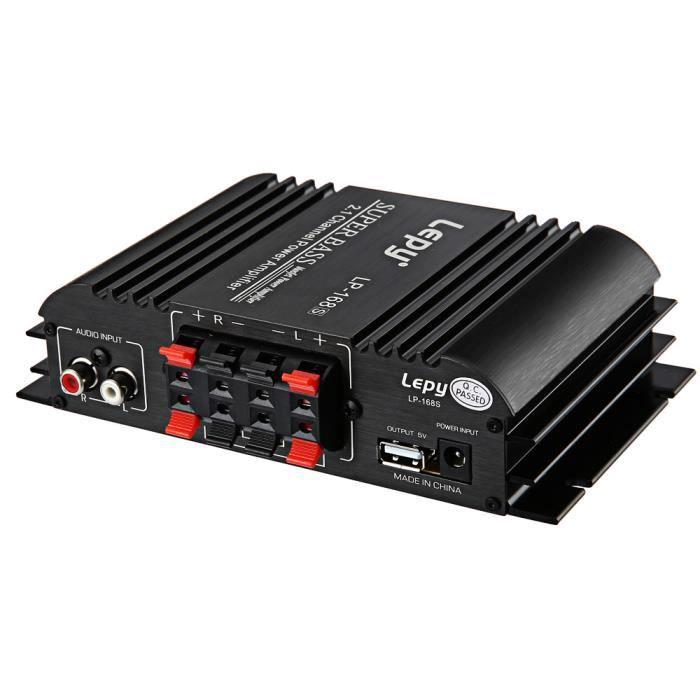 Lepy Lp 168S 12V Amplificateur De Voiture Audio Automatique Subwoofer De Puissance Sortie De Basse Son Stéréo Avec Fonction