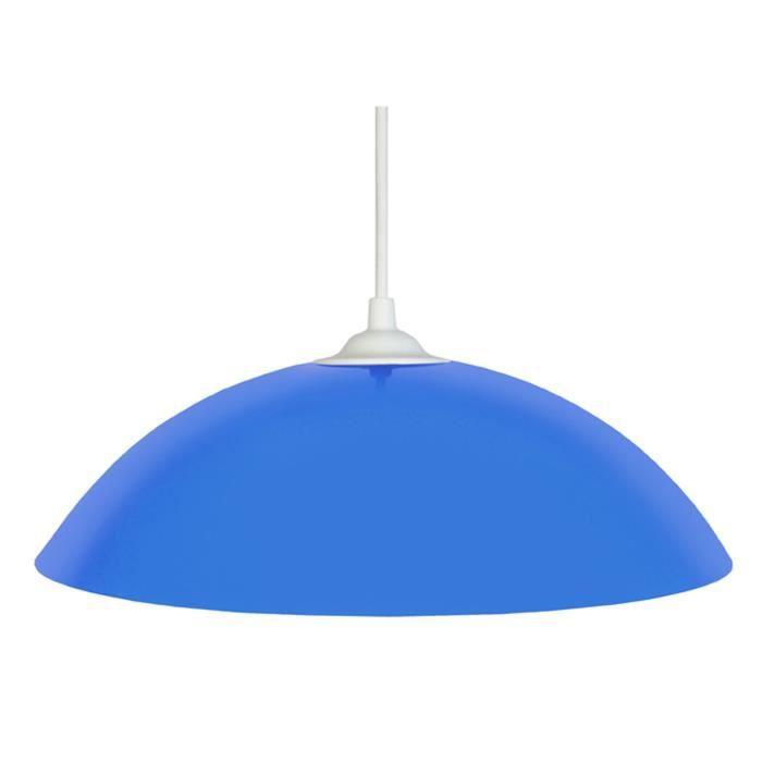 Lustre - suspension Demi-lune E27 25 W Ø29,5 cm Bleu ciel