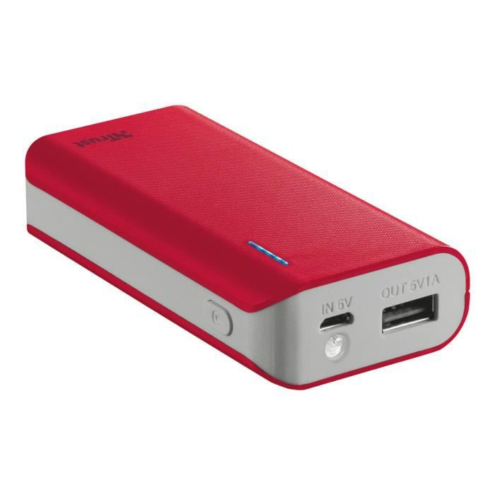 TRUST PRIMO Powerbank 4400 mAh - Rouge