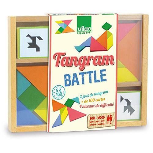 Vilac - 6061 - Jeu De Plateau - Tangram Battle 6061