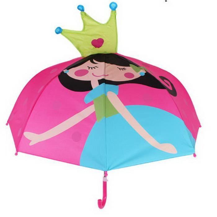 Parapluie Mignon De Dessin Animé Créatif Pour Enfants Couronne Et Petite Fille