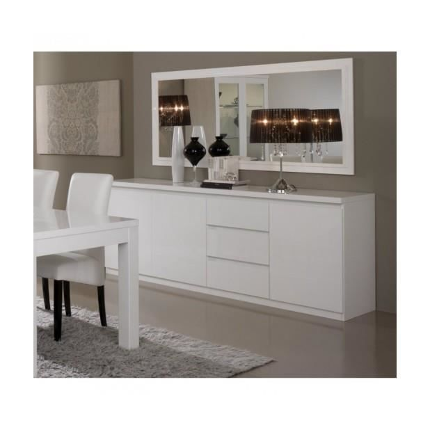 bahut roma laque blanc achat vente buffet bahut. Black Bedroom Furniture Sets. Home Design Ideas