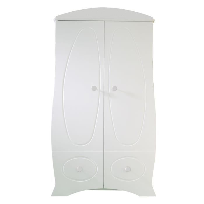 Armoire b b perle boutons blancs achat vente armoire armoire b b perle - Grande armoire blanche ...