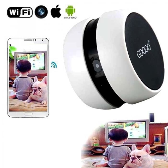 mini camera wifi android iphone surveillance b b espionnage sans fils neuf pack accessoires. Black Bedroom Furniture Sets. Home Design Ideas