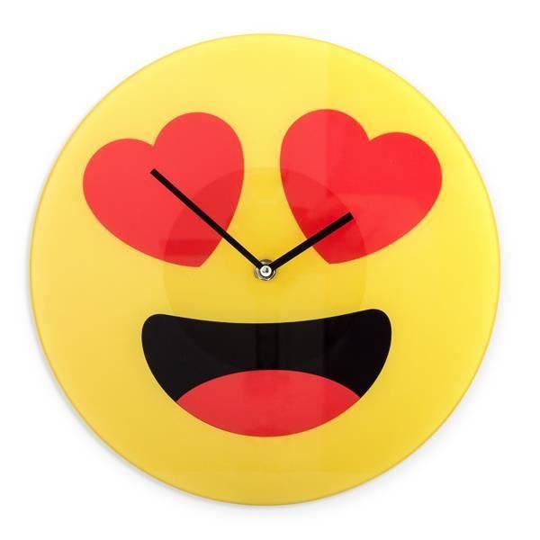 Horloge Smiley Coeurs 30cm Achat Vente Horloge Pendule