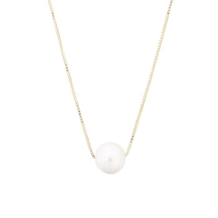 collier femme or perle de culture