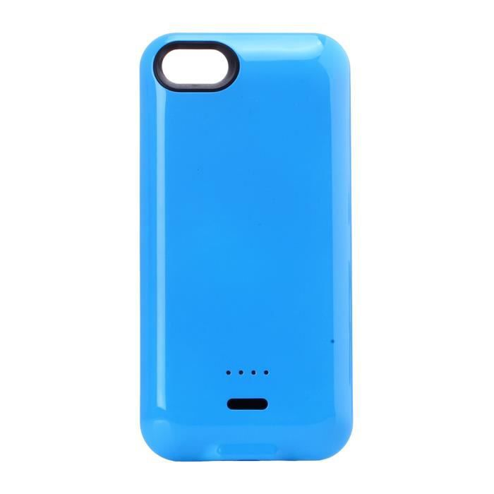coque batterie 2800 mah bleue pour iphone 5c achat. Black Bedroom Furniture Sets. Home Design Ideas