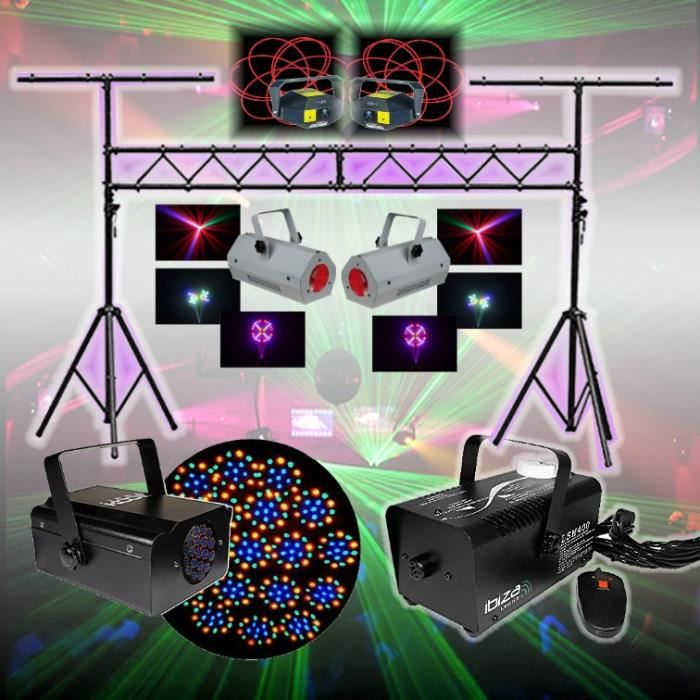 pack led laser dj 5 jeux lumi re portique pack lumi re. Black Bedroom Furniture Sets. Home Design Ideas