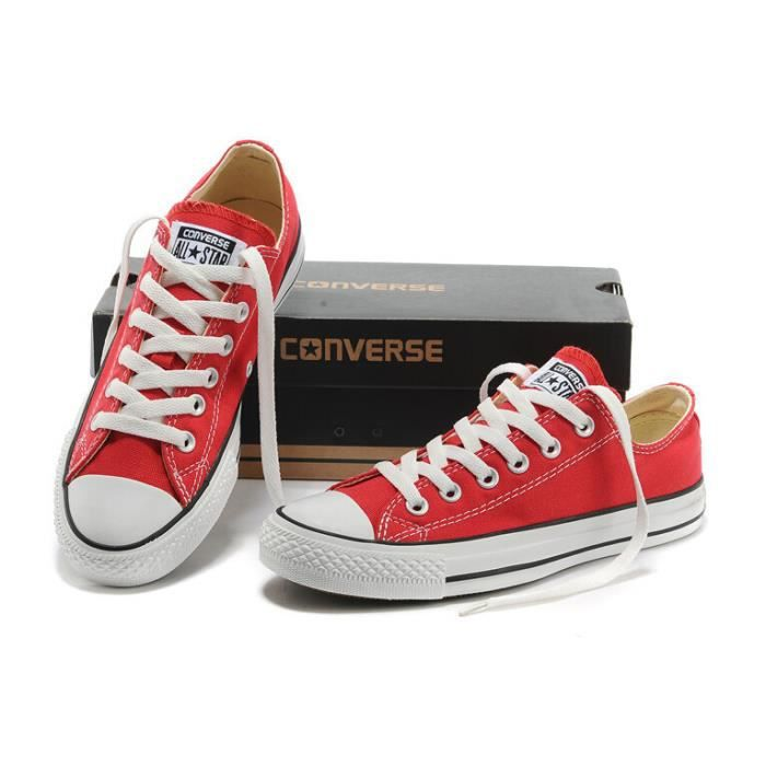 Mixte Basket basse Converse chuck taylor all star ox rouge Rouge