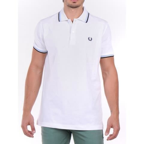 fred perry polo homme blanche blanc blanche achat. Black Bedroom Furniture Sets. Home Design Ideas