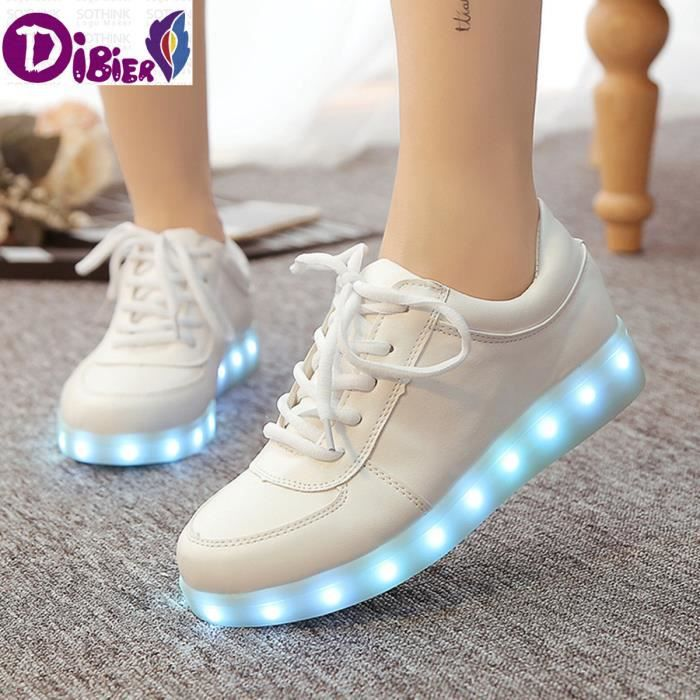 Chaussures Lumineux Led 2016 Souliers Led Chaussures Femmes  Hommes Mode LED Adulte allume USB Chaussures de charge