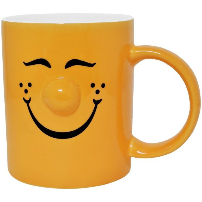 mug tasse caf smiley picto tendance nez en rel achat. Black Bedroom Furniture Sets. Home Design Ideas