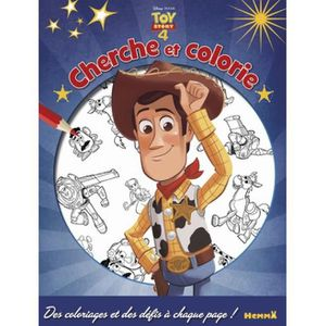 LIVRE LOISIRS CRÉATIFS Cherche et colorie Disney Toy Story 4