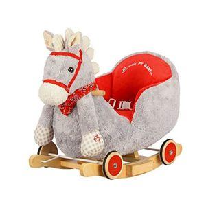 JOUET À BASCULE Poupon KKGC6 cheval à bascule gris avec son et rou
