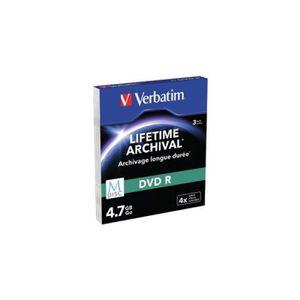 CD - DVD VIERGE VERBATIM Lot de 3 DVD-R M-Disc - 4.7 Go 4x - Surfa