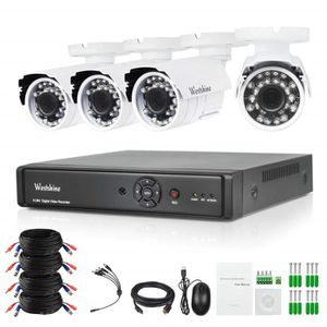 CAMÉRA DE SURVEILLANCE Westshine 8CH 5MP 5N1 Kit DVR, 8Ch 5MP DVR + 4 Pac