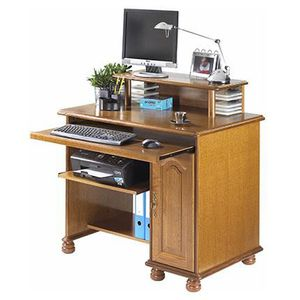 bureau rustique achat vente bureau rustique pas cher cdiscount. Black Bedroom Furniture Sets. Home Design Ideas