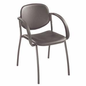 FAUTEUIL Lot de 2 fauteuil visiteur prestige noir