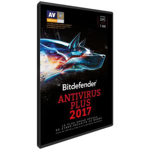ANTIVIRUS BITDEFENDER Antivirus Plus 2017 - 1 an 3 PC