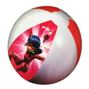BALLON DÉCORATIF  MIRACULOUS - Grand ballon de plage gonflable Ladyb