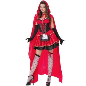 27c36b3fc1e5c ROBE Femmes Robe 3 Piece Gothic Little Red-Cap Party Co