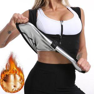 Sudation Débardeur Pour Femme Sauna T Shirt Amincissante Gilet Minceur Fitness