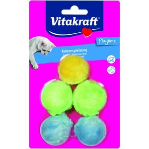 JOUET VITAKRAFT For You Balles peluches - Chat - x 5