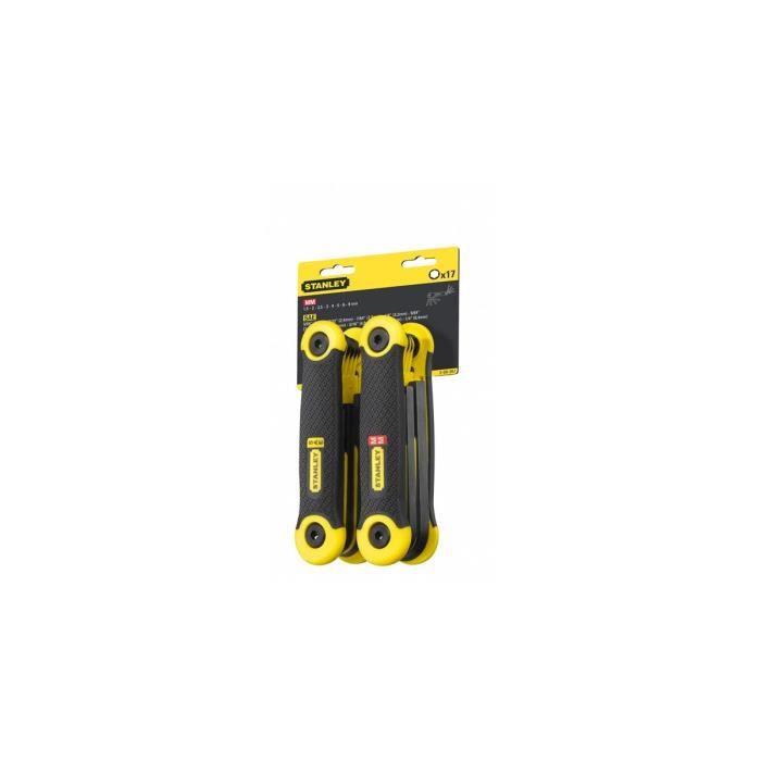 STANLEY 2 jeux de 17 clés pliables - 1,5 à 8mm et 5 / 64- - 1 / 4-