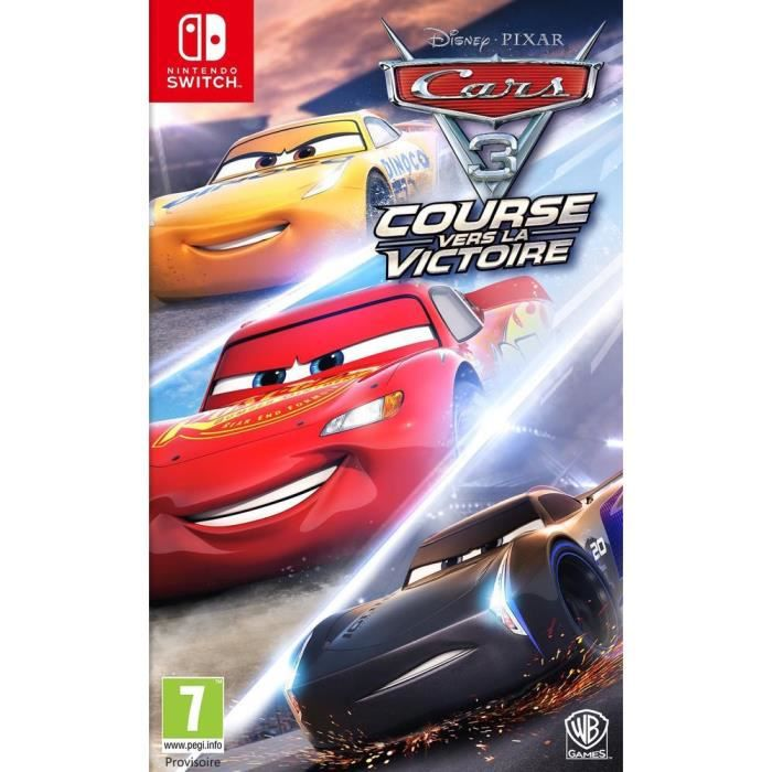 JEU NINTENDO SWITCH Cars 3 Jeu Switch