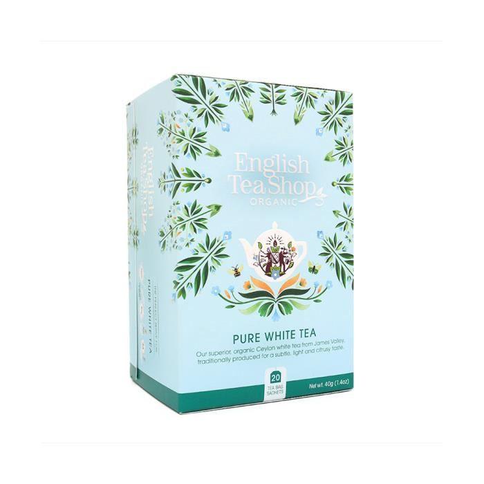 Thé blanc bio 20 sachets English Tea Shop