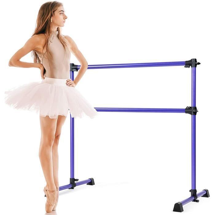 Double Barre de Danse Classique,Barre Inférieure Hauteur Réglable 7-112 CM et Amovible,pour Ballet,Gymnastique,Streching