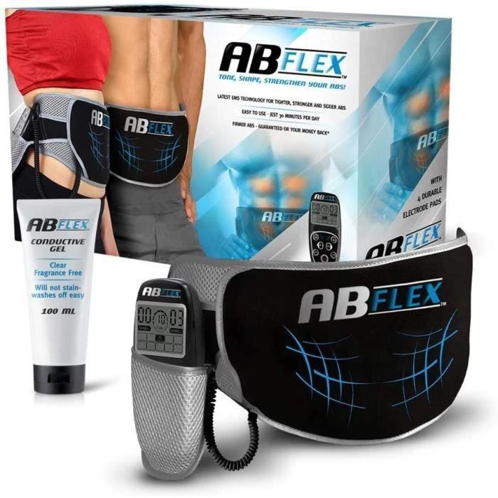 ABFLEX AB Toning Belt pour Les Muscles de l'estomac Mince et Tonique - Aucun Coussin de Remplacement jamais - Télécommande Pratique
