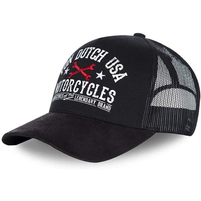 Von Dutch Casquette Noire USA Motorcycles Baseball Garn - Homme163