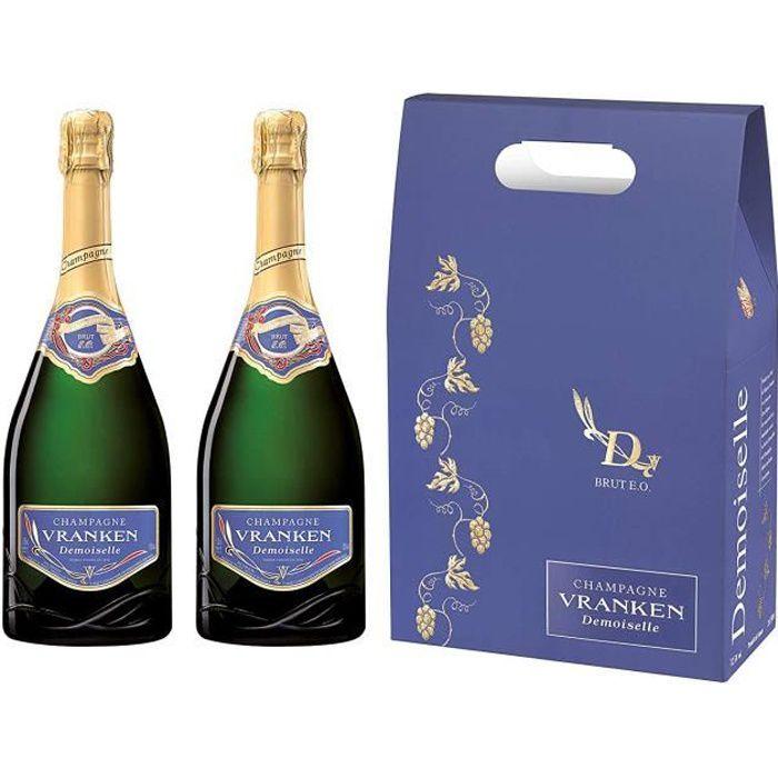 DEMOISELLE Champagne Vranken - E.O. Brut - Etui De 2 Bouteilles - 3253953001267