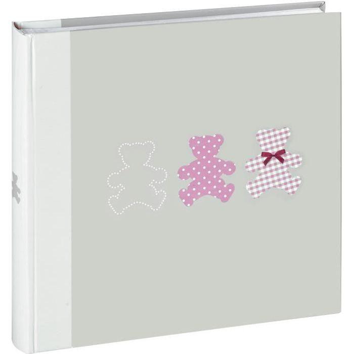 EMOTION Album photo traditionnel naissance Timotée rose 30x30 cm 60 pages