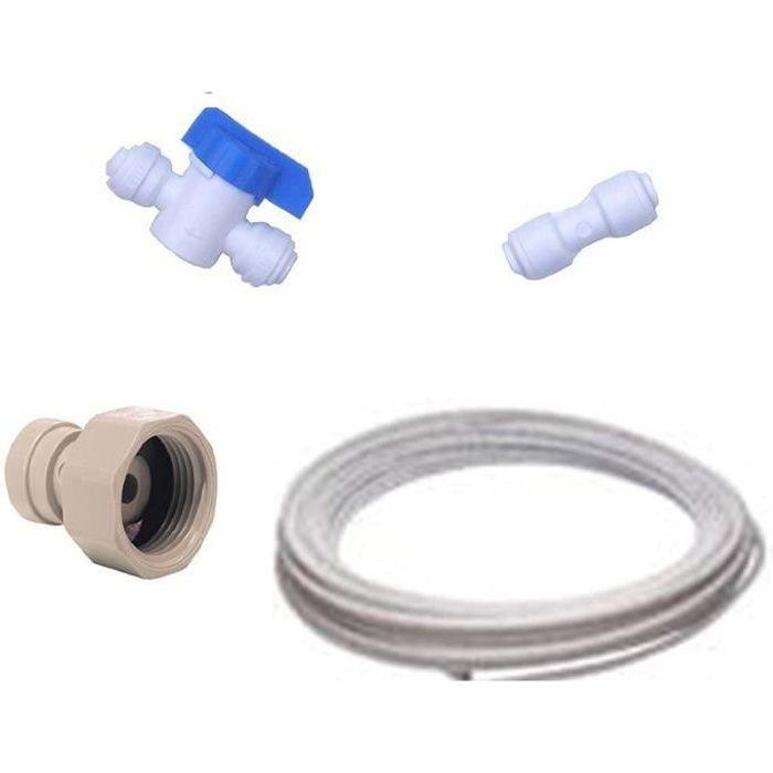 Kit de Raccordement Frigo Américain pour toutes marques de réfrigérateurs américains (raccords + tuyau): Gros électroménager
