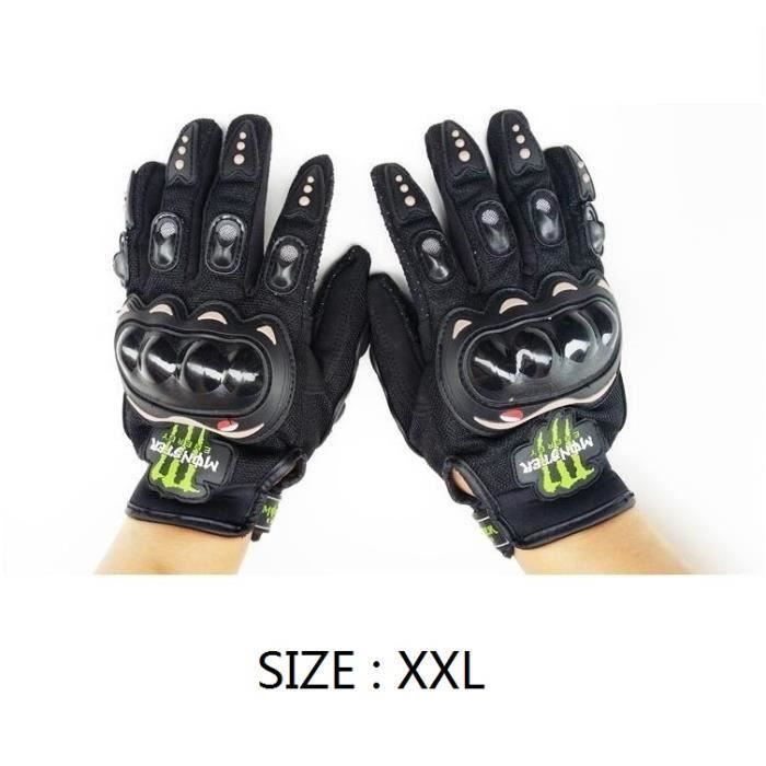 ROMAN NOIR-XXL MONSTER Gants Doigt Complet Protection Moto Vélo Sport moto équitation gants de protection Cross country gants DROP
