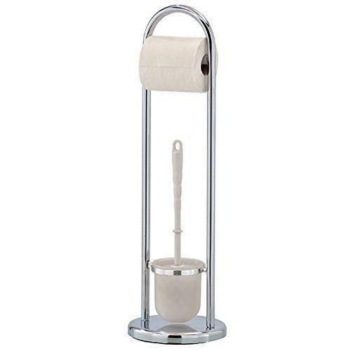 Mondex INX426-00 Serviteur WC Design Métal Chromé 19 x 19 x 64 cm
