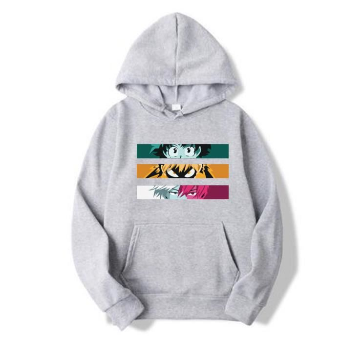 Sweats à Capuche Boku My Hero Academia Cosplay Hisoka Unisexe pour Adulte Sweat-Shirts Sweater avec Poche Kangourou