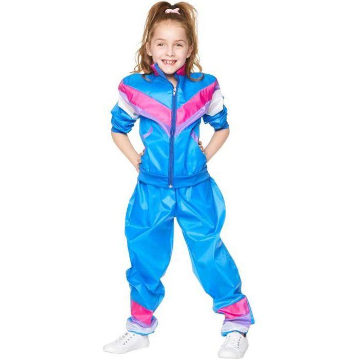 Déguisement survêtement bleu années 80 fille - 3-4 ans (104 cm)