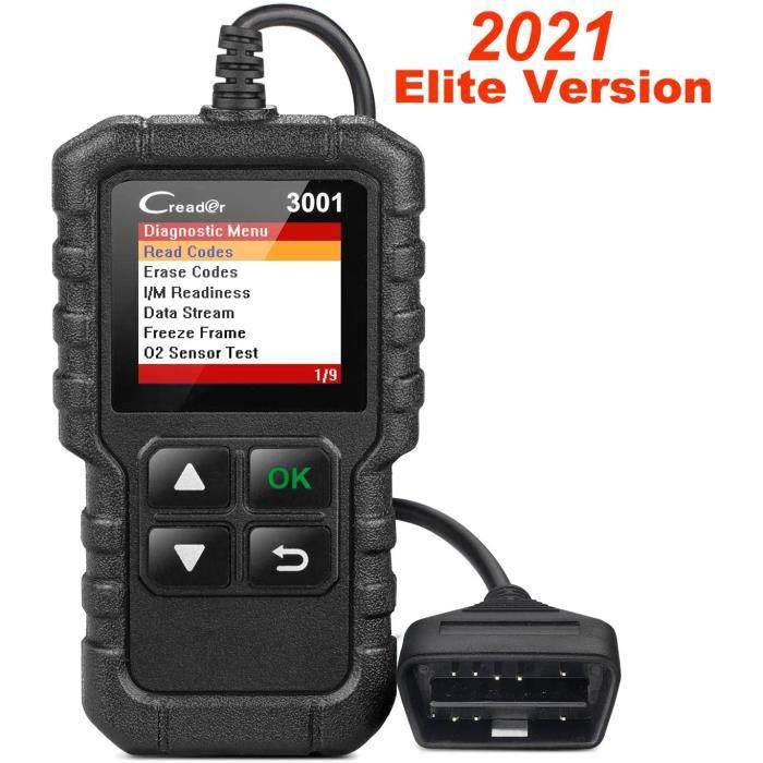 Launch CR3001 X431 Creader 3001 OBD2 Scanner Automobile Diagnostic de voiture Vérification du voyant du moteur Détecteurs O2 code